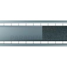 ACO lietus kanāla režģis ar dubultspraugu 1m sedzams ar plāksni