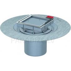 ACO EasyFlow trapa augšdaļa bez režģa ar hidroizolācijas atloku dažāda veida virsmām, flīzējams h=36-135 mm