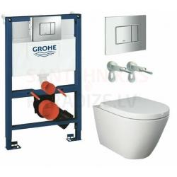 WC iebūvējami tualetes podi ar komplektu