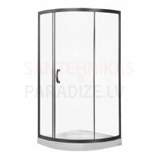 AM PM stūra duškabīne BLISS L SOLO SLIDE matēts sudrabs + stikls Transparent 190x90x90