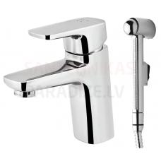 AM PM izlietnes jaucējkrāns ar higiēnas dušu SPIRIT