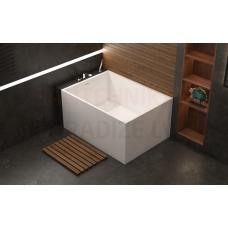AQUATICA brīvi stāvoša vanna CLAIRE 120x88 (balta)