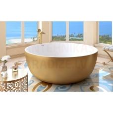 AQUATICA brīvi stāvoša vanna ADELINA ROUND 150x150 (Yellow Gold-White)