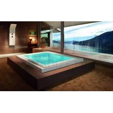 AQUATICA brīvi stāvoša āra/iekštelpu vanna FUSION Cube Spa by Marc Sadler 230x180 (240V/60Hz)