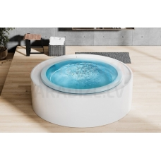 AQUATICA brīvi stāvoša āra/iekštelpu vanna FUSION Rondo Spa by Marc Sadler 200x200 (240V/60Hz)