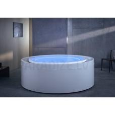 AQUATICA brīvi stāvoša āra/iekštelpu vanna FUSION Rondo HydroRelax 200x200 (240V/60Hz)