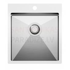 Aquasanita nerūsejošā tērauda virtuves izlietne LUNA 450 45x50.5 cm