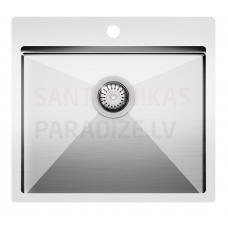 Aquasanita nerūsejošā tērauda virtuves izlietne LUNA 550 55x50.5 cm