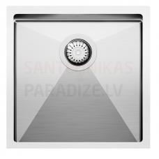 Aquasanita nerūsejošā tērauda virtuves izlietne ENNA 450 45x45 cm