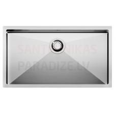 Aquasanita nerūsejošā tērauda virtuves izlietne ENNA 800 79x45 cm