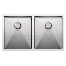 Aquasanita nerūsejošā tērauda virtuves izlietne ENNA 750 76x45 cm