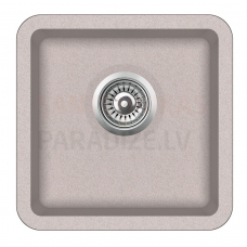 Aquasanita akmens masas virtuves izlietne ARCA 400 Beige 38x38 cm