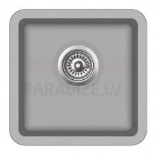 Aquasanita akmens masas virtuves izlietne ARCA 400 Argent 38x38 cm