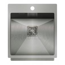 Aquasanita nerūsejošā tērauda virtuves izlietne AIRA 450 45x51 cm