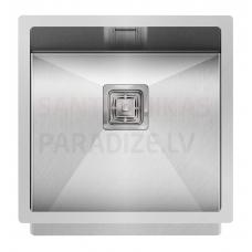 Aquasanita nerūsejošā tērauda virtuves izlietne DERA 450 45x45 cm
