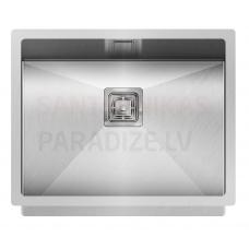 Aquasanita nerūsejošā tērauda virtuves izlietne DERA 550 55x45 cm