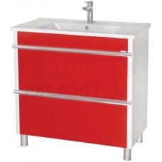 Aqua Rodos Parīze  85 skapītis ar izlietni  (sarkans)
