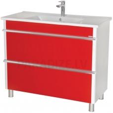 Aqua Rodos Parīze 100 skapītis ar izlietni  (sarkans)