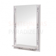 Aqua Rodos Bomond  55 Spogulis ar plauktu (balts)