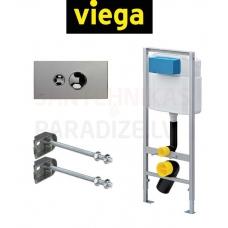 VIEGA komplekts 3 in 1 Iebūvējamais tualetes poda (WC) rāmis + poga + rāmja sienas stiprinājumi