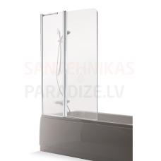 Baltijos Brasta vannas siena MAJA PLIUS caurspīdīgs stikls 150x100