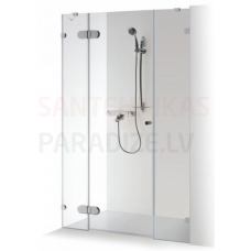 Baltijos Brasta dušas durvis ar papildu sienu IEVA PLIUS caurspīdīgs stikls 190x120