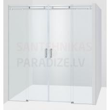 Baltijos Brasta dušas durvis GABIJA PLIUS caurspīdīgs stikls 200x140