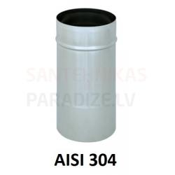 Nerūsējošā tērauda dūmvadu viensienu sistēma (AISI 304)