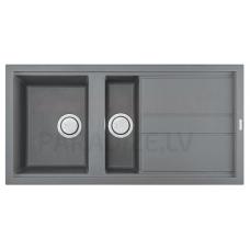 ELLECI akmens masas virtuves izlietne BEST 475 Gaiši pelēks 100x51 cm
