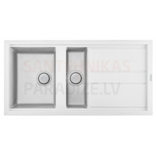 ELLECI akmens masas virtuves izlietne BEST 475 Balts 100x51 cm