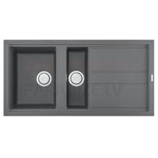 ELLECI akmens masas virtuves izlietne BEST 475 Titanium 100x51 cm