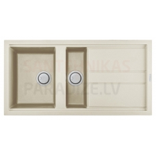 ELLECI akmens masas virtuves izlietne BEST 475 Bianco Antico 100x51 cm