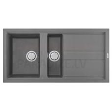 ELLECI akmens masas virtuves izlietne BEST 475 Cemento 100x51 cm