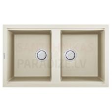 ELLECI akmens masas virtuves izlietne BEST 450 Bianco Antico 86x51 cm