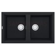 ELLECI akmens masas virtuves izlietne BEST 450 Antracite 86x51 cm