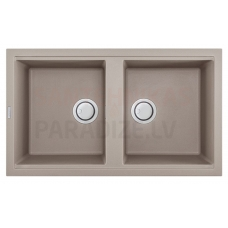 ELLECI akmens masas virtuves izlietne BEST 450 Tortora 86x51 cm