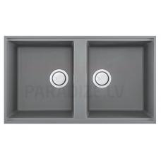 ELLECI akmens masas virtuves izlietne BEST 450 UNDERMOUNT Gaiši pelēks 83.6x48.8 cm