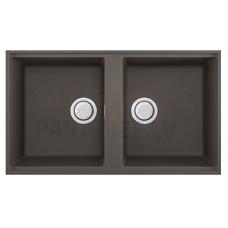 ELLECI akmens masas virtuves izlietne BEST 450 UNDERMOUNT Dove pelēks 83.6x48.8 cm