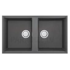 ELLECI akmens masas virtuves izlietne BEST 450 UNDERMOUNT Titanium 83.6x48.8 cm