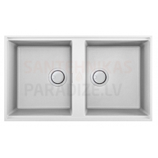 ELLECI akmens masas virtuves izlietne BEST 450 UNDERMOUNT Bianco 83.6x48.8 cm