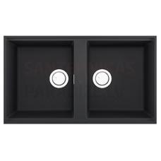 ELLECI akmens masas virtuves izlietne BEST 450 UNDERMOUNT Antracite 83.6x48.8 cm