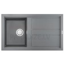 ELLECI akmens masas virtuves izlietne BEST 400 Gaiši pelēks 86x51 cm