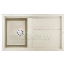 ELLECI akmens masas virtuves izlietne BEST 400 Bianco Antico 86x51 cm