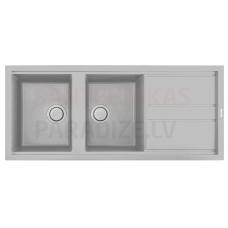ELLECI akmens masas virtuves izlietne BEST 500 Aluminium 116x51 cm