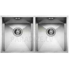 ELLECI nerūsejošā tērauda virtuves izlietne SQUARE 720 2V 74.5x44 cm
