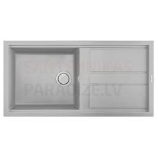 ELLECI akmens masas virtuves izlietne BEST 480 Aluminium 100x51 cm