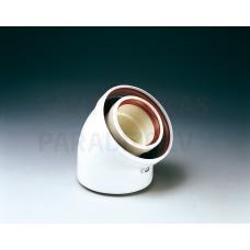 Koaksiāls pagrieziens i/ā Ø 80/125 mm 45°