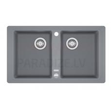 FRANKE akmens masas virtuves izlietne BASIS Pelēks 86x50 cm