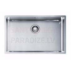FRANKE nerūsejošā tērauda virtuves izlietne ar pogu BOX 72.5x45 cm