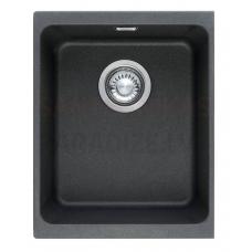 FRANKE akmens masas virtuves izlietne ar pogu KUBUS Onikss 38x46 cm
